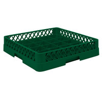 Vollrath TR16BBBB Traex Full-Size Green 25-Compartment 9 7/16 inch Cup Rack