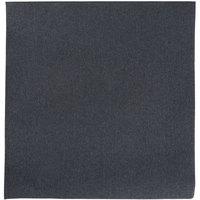 Hoffmaster FashnPoint Black Linen-Feel Dinner Napkin, 1/4 Fold, 15 1/2 inch x 15 1/2 inch - 800/Case