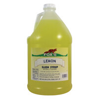 Fox's Lemon Slush Syrup - 1 Gallon Container