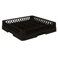 Vollrath TR16BBB Traex Full-Size Black 25-Compartment 7 7/8 inch Cup Rack