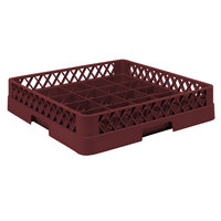 Vollrath TR16B Traex Full-Size Burgundy 25-Compartment 4 13/16 inch Cup Rack