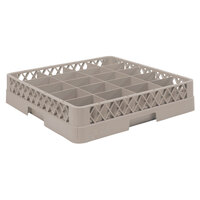 Vollrath TR5AA Traex Full-Size Beige 20-Compartment 6 3/8 inch Cup Rack with Open Rack Extender On Top