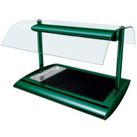 Hatco SRGBW-1 Hunter Green Serv-Rite Portable Heated Glass Buffet Warmer with Overhead Heating - 650W