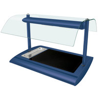 Hatco SRGBW-1 Navy Blue Serv-Rite Portable Heated Glass Buffet Warmer with Overhead Heating - 650W