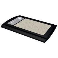 Hatco SRSS-1 Black Serv-Rite Portable Heated Bermuda Sand Stone Buffet Warmer - 350W