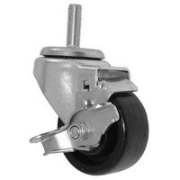 All Points 26-3284 3 inch Swivel Threaded Stem Caster with Brake - 1/2 inch-13 x 1 1/2 inch Stem, 220 lb. Capacity