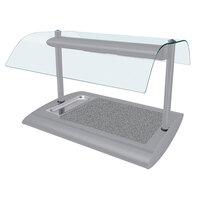 Hatco SRSSBW-1 White Granite Serv-Rite Portable Heated Gray Granite Stone Buffet Warmer with Overhead Heating - 650W