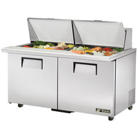 True TSSU-60-24M-B-ST-ADA 60 inch Mega Top Two Door ADA Height Sandwich / Salad Prep Refrigerator