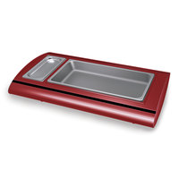 Hatco SRB-1 Warm Red Serv-Rite Portable Pan Buffet Warmer - 500W