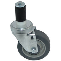 All Points 26-3372 4 inch Swivel Stem Caster for 1 3/16 inch O.D. Tubing - 250 lb. Capacity