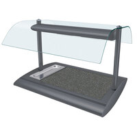 Hatco SRSSBW-1 Gray Granite Serv-Rite Portable Heated Night Sky Stone Buffet Warmer with Overhead Heating - 650W