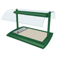 Hatco SRSSBW-1 Hunter Green Serv-Rite Portable Heated Bermuda Sand Stone Buffet Warmer with Overhead Heating - 650W