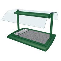 Hatco SRSSBW-1 Hunter Green Serv-Rite Portable Heated Gray Granite Stone Buffet Warmer with Overhead Heating - 650W