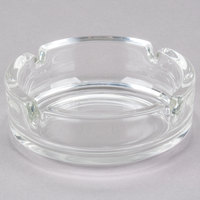 Cardinal Arcoroc C1320 1 3/8 inch Round Stackable Glass Ashtray - 24/Case