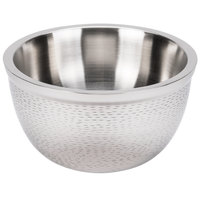 Tablecraft RB11 Remington 5 qt. Round Stainless Steel Double Wall Bowl - 11 1/4 inch x 6 1/2 inch