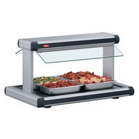 Hatco GR2BW-54 54 inch Glo-Ray Stainless Steel Designer Buffet Warmer with Black Insets and Infinite Controls - 2290W