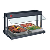 Hatco GRBW-72 72 inch Glo-Ray Black Buffet Warmer with Thermostatic Controls - 3125W