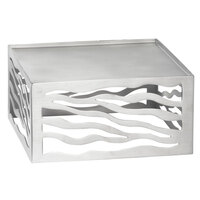 Tablecraft WS4 4 inch Wavy Stainless Steel Riser