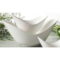 CAC SHER-72 Sheer 11 inch Bone White Porcelain Spirit Dish - 12/Case