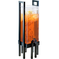Cal-Mil 3302-3INF-13 One by One 3 Gallon Acrylic Beverage Dispenser with Black Frame and Infusion Chamber - 9 inch x 9 inch x 28 1/2 inch