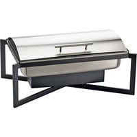Cal-Mil 3321-13 One by One Full-Size Black Roll Top Chafer