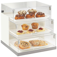 Cal-Mil 3020-55 Luxe Three Tier Stainless Steel Base Bread Case - 19 inch x 20 inch x 19 inch
