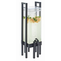 Cal Mil 3302-3-13 One by One 3 Gallon Acrylic Beverage Dispenser with Black Frame and Ice Chamber - 9 inch x 9 inch x 28 1/2 inch
