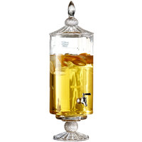 2 Gallon Westchester Optic Round Glass Beverage Dispenser