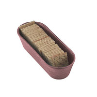 HS Inc. HS1010 Raspberry Cracker / Breadstick Basket - 24 / Case