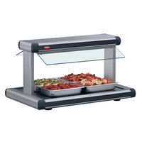 Hatco GR2BW-24 24 inch Glo-Ray Gray Granite Designer Buffet Warmer with Black Insets and Infinite Controls - 970W
