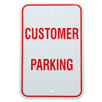 Customer Parking Aluminum Composite Sign - 12 inch x 18 inch