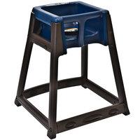 Koala Kare KB866-04 KidSitter Brown Convertible Plastic High Chair with Blue Seat