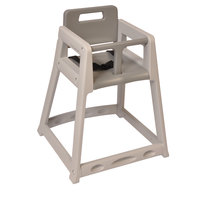 Koala Kare KB850-01 Gray Assembled Stackable Plastic High Chair