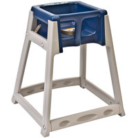 Koala Kare KB888-04 KidSitter Beige Convertible Plastic High Chair with Blue Seat