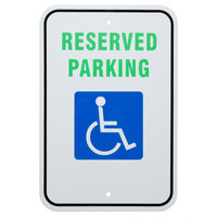Handicap Reserved Parking Aluminum Composite Sign - 12 inch x 18 inch