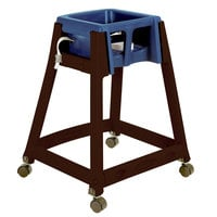 Koala Kare KB866-04W KidSitter Dark Brown Stackable Multi-Use Plastic High Chair with Casters