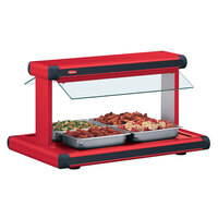 Hatco GR2BW-54 54 inch Glo-Ray Warm Red Designer Buffet Warmer with Warm Red Insets and Infinite Controls - 2290W