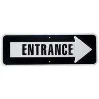 Entrance Arrow Aluminum Composite Sign - 36 inch x 12 inch