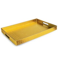 14 inch x 19 inch Gold Polypropylene Gator Room Service Tray with Handles