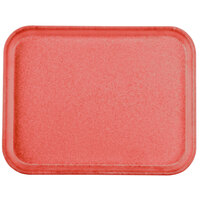 Carlisle 1410FG017 Customizable10 inch x 14 inch Glasteel Red Fiberglass Tray - 12 / Case