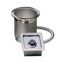 Wells SS4TUCI 4 qt. Round Insulated Drop In Soup Well with Cord - Top Mount, Thermostatic Control