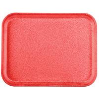 Carlisle 1410FG020 Customizable10 inch x 14 inch Glasteel Coral Fiberglass Tray - 12/Case
