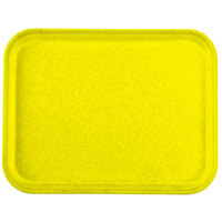 Carlisle 1410FG021 Customizable 10 inch x 14 inch Glasteel Pineapple Fiberglass Tray - 12 / Case