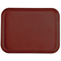 Carlisle 1410FG97030 Customizable10 inch x 14 inch Glasteel Cherry Red Fiberglass Tray - 12/Case