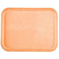 Carlisle 1410FG018 Customizable10 inch x 14 inch Glasteel Orange Fiberglass Tray - 12 / Case