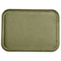 Carlisle 1612FG076 Customizable 12 inch x 16 inch Glasteel Toffee Tan Fiberglass Tray - 12 / Case