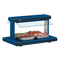 Hatco GR2BW-24 24 inch Glo-Ray Navy Blue Designer Buffet Warmer with Navy Blue Insets and Infinite Controls - 970W