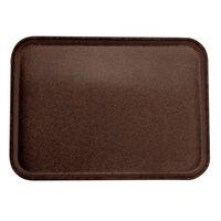 Carlisle 2216FGQ127 Customizable 16 inch x 22 inch Glasteel Chocolate Fiberglass Tray - 6/Case