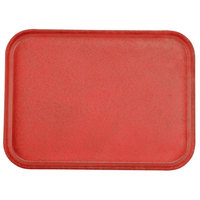 Carlisle 1612FG017 Customizable 12 inch x 16 inch Glasteel Red Fiberglass Tray - 12 / Case