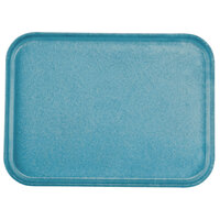 Carlisle 1612FG013 Customizable 12 inch x 16 inch Glasteel Ice Blue Fiberglass Tray - 12 / Case